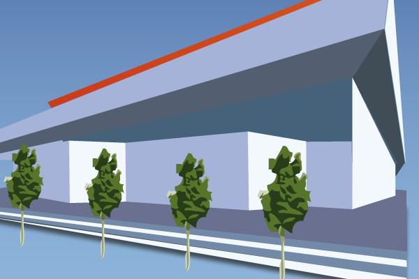 Das wird teuer: Das Dach der Neckartal-Sporthalle ist undicht