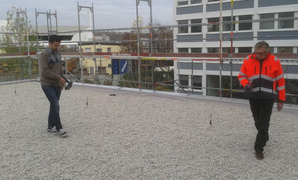 Dachscan Dachkontrolle Dachscanner, Dachdecker, Leckortung