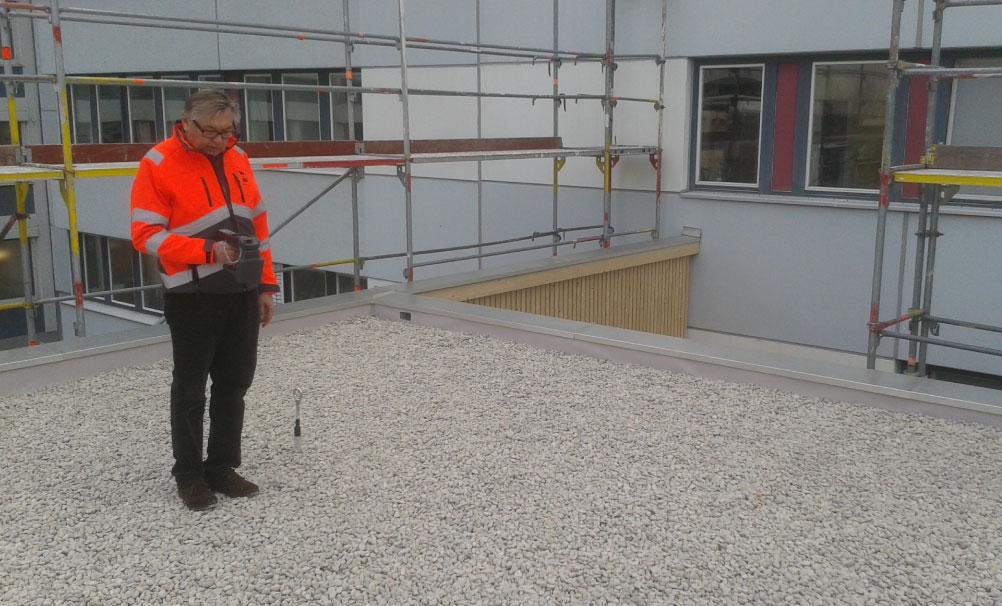 Dachscan, Dachkontrolle, Kies, Dachscanner, Sensoren, Leckortung