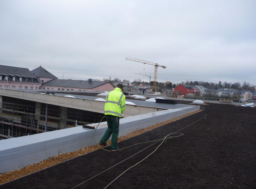 Dachansicht mit Dachkontrolle Wässerung