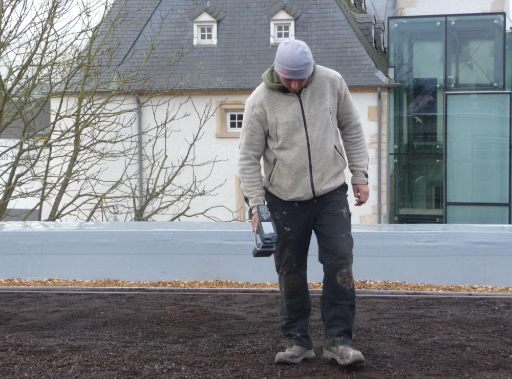Dachansicht mit Dachkontrolle