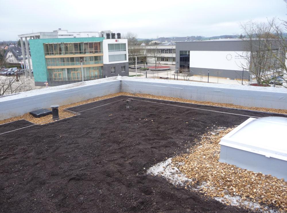 Dachansicht von oben mit Dachkontrolle