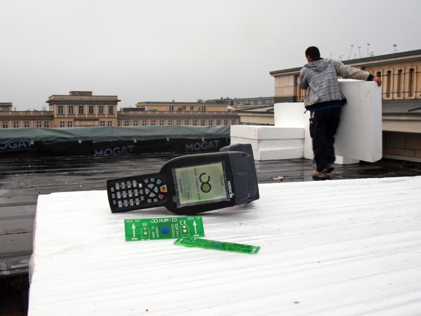 Leckortung Sensoren Flachdach Berlin, Dämmung, Dämmplatte