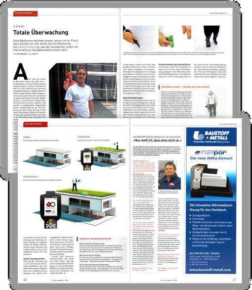 Hum-ID in der Presse Dachbau Magazin Ausschnitt