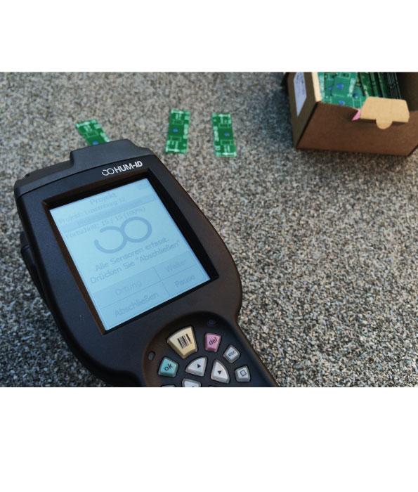 Hum-ID Produkte, ausgepackt (Sensor und Scanner)