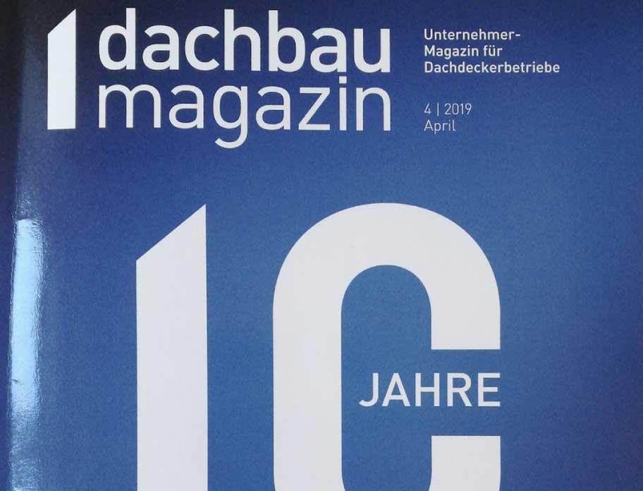 """""""Dachcheck per App"""": HUM-ID im Dachbaumagazin"""