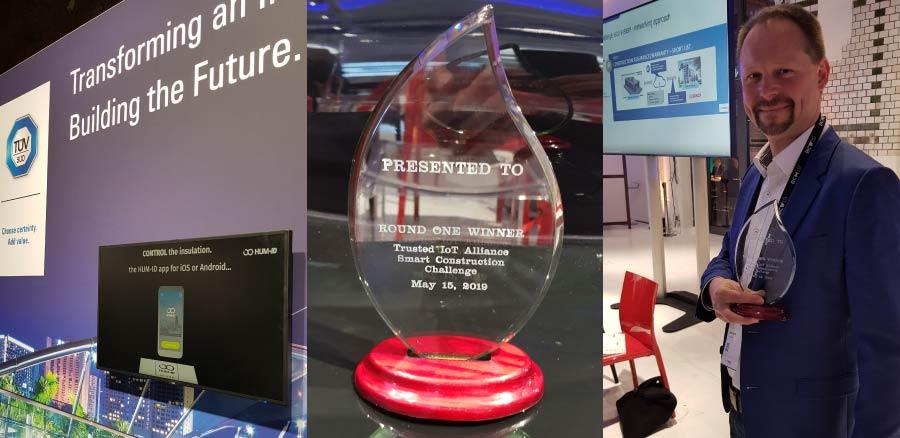 Ausgezeichnet! HUM-ID gewinnt Smart Construction Challenge bei der Bosch Connected World 2019